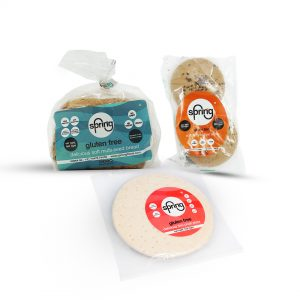 Combo 3 - 1 Bread + 1 Pack Burger Buns + 1 Thin Crust Pizza - gluten free products | Sprinng